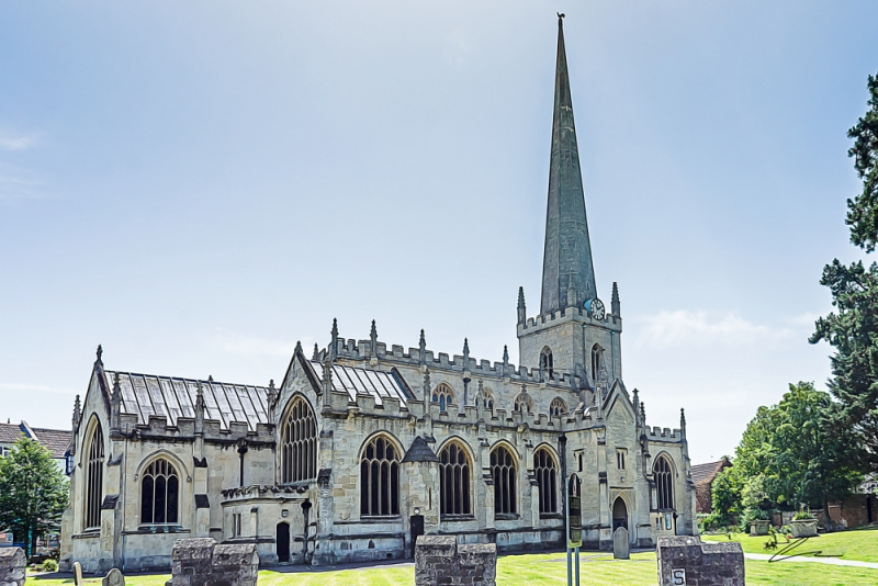 Trowbridge Wiltshire June 28th 2019 st james church trowbridge on a summers day